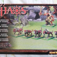Juegos Antiguos: MASTINES DE KHORNE WARHAMMER. Lote 247628995