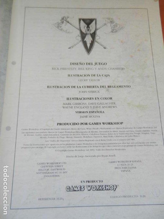 Juegos Antiguos: REVISTA WARHAMMER REGLAMENTO - GAMES WORKSHOP - REF. 3120 - 1993. - Foto 3 - 203425922