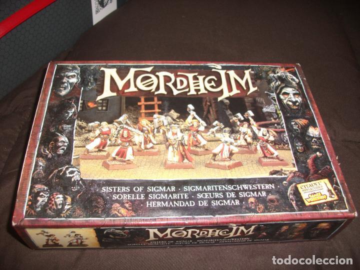 Juegos Antiguos: Mordheim Caja completa Hermandad de Sigmar con matriz - Foto 2 - 250263235