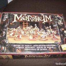Juegos Antiguos: MORDHEIM CAJA COMPLETA HERMANDAD DE SIGMAR CON MATRIZ. Lote 250263235