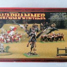 Juegos Antiguos: WARHAMMER - CONDE ELECTOR EN GRIFO - PLOMO - NUEVO PERFECTO ESTADO - DESCATALOGADO. Lote 254327080