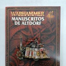 Juegos Antiguos: WARHAMMER - MANUSCRITOS DE ALTDORF - 144 PÁGINAS - PERFECTO ESTADO. Lote 254426225