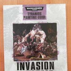Juegos Antiguos: WARHAMMER INVASION SWARMS TYRANIDS PAINTING GUIDE. Lote 258135490