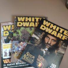 Juegos Antiguos: LOTE 3 WHITE DWARF: N° 103, 110 Y 137 (NOV 2003, JUN 2004 Y SEP 2006). Lote 260377465