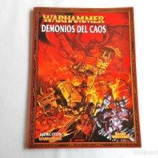 Juegos Antiguos: WARHAMMER CODEX DEMONIOS DEL CAOS 7 EDICION. Lote 262178565