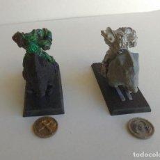 Juegos Antiguos: WARHAMMER - GOBLINS MONTADOS - FIGURAS METALICAS MONTURA PLASTICO - OLDHAMMER. Lote 262606445