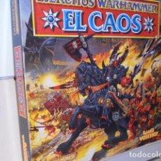 Juegos Antiguos: EL CAOS CAJA EJERCITOS WARHAMMER SUPLEMENTO CODEX AÑO 1995 - GAMES WORKSHOP OCASION. Lote 263014040