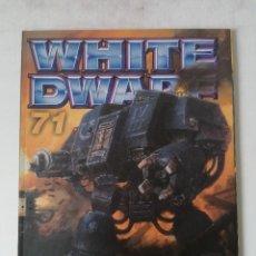 Juegos Antiguos: WHITE DWARF Nº 71 - MARZO 2001 - WARHAMMER - MUY BUEN ESTADO. Lote 263777385