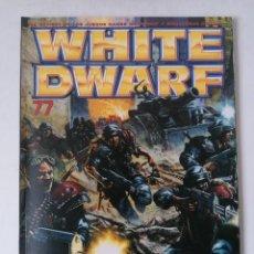 Juegos Antiguos: WHITE DWARF Nº 77 - SEPTIEMBRE 2001 - WARHAMMER - MUY BUEN ESTADO. Lote 263780330