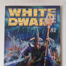 Juegos Antiguos: WHITE DWARF Nº 81 - ENERO 2002 - WARHAMMER - MUY BUEN ESTADO - PVP 4,50 €. Lote 263787180