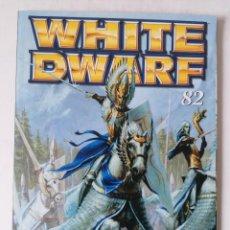 Juegos Antiguos: WHITE DWARF Nº 82 - FEBRERO 2002 - WARHAMMER - MUY BUEN ESTADO - PVP 4,50 €. Lote 263787420