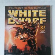 Juegos Antiguos: WHITE DWARF Nº 87 - JULIO 2002 - WARHAMMER - MUY BUEN ESTADO - PVP 4,50€. Lote 263788560