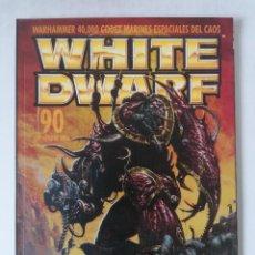Juegos Antiguos: WHITE DWARF Nº 90 - OCTUBRE 2002 - WARHAMMER - MUY BUEN ESTADO - PVP 4,50€. Lote 263789950