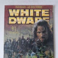 Juegos Antiguos: WHITE DWARF Nº 91 - NOVIEMBRE 2002 - WARHAMMER - MUY BUEN ESTADO - PVP 4,50€. Lote 263790240