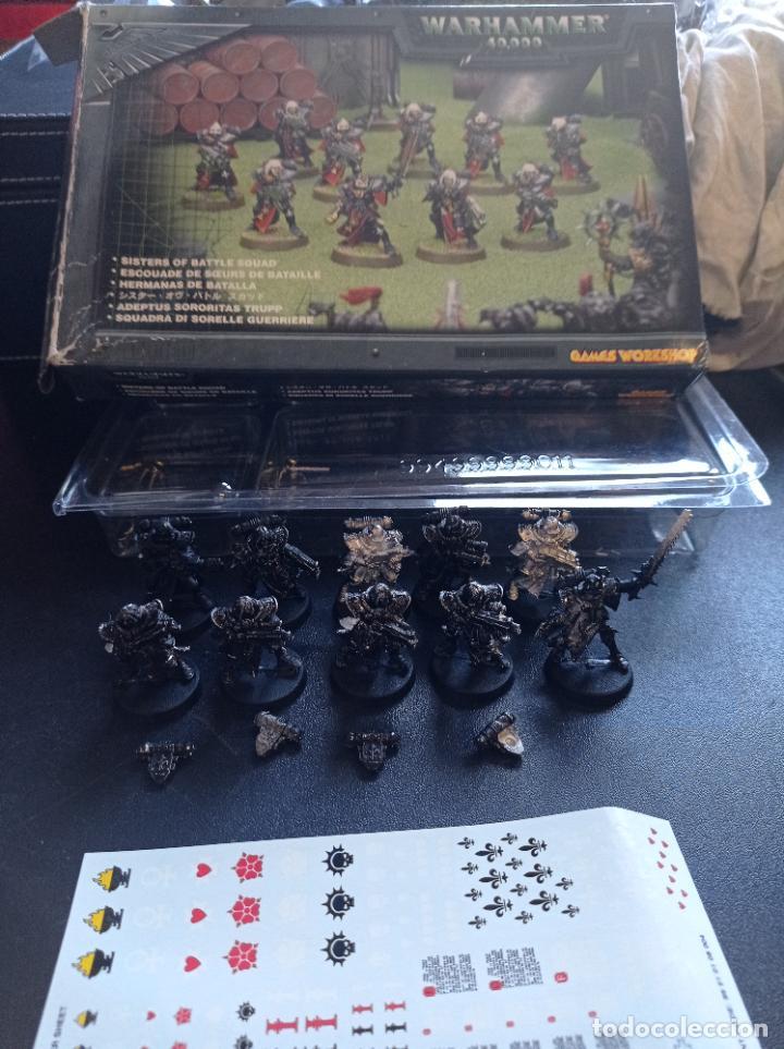 Juegos Antiguos: Caja abierta Hermanas de Batalla Sisters of Battle 10 unidades imprimidas en negro con transfers - Foto 3 - 264420419