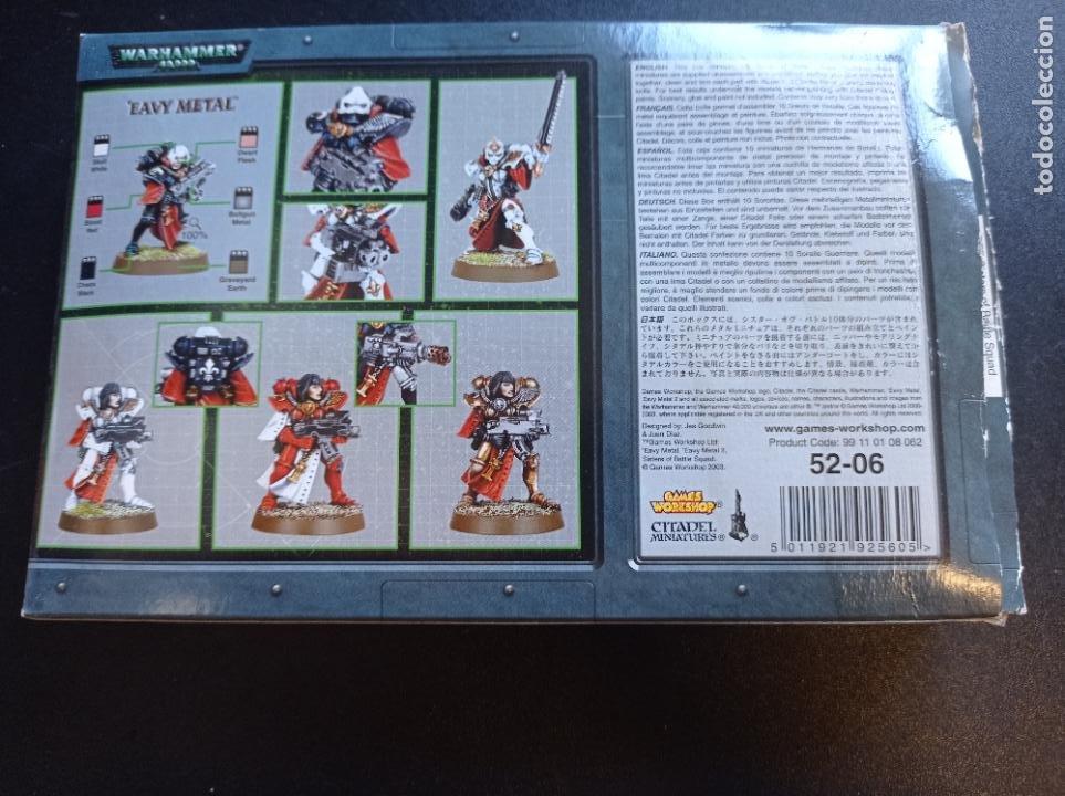 Juegos Antiguos: Caja abierta Hermanas de Batalla Sisters of Battle 10 unidades imprimidas en negro con transfers - Foto 4 - 264420419