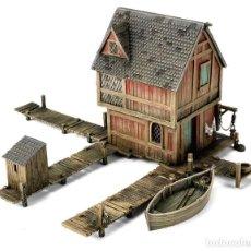 Juegos Antiguos: GW WARHAMMER ESCENOGRAFIA LORD OF THE RINGS LAKE TOWN HOUSE SEÑOR ANILLOS HOBBIT. Lote 267517024