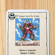 Giochi Antichi: HEROQUEST CARTA GUERRERO DEL CAOS. Lote 269189703