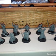 Juegos Antiguos: 10 FIGURAS LORD OF THE RINGS GALADHRIM WARRIORS. Lote 269304268