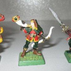 Juegos Antiguos: LOTE 3 FIGURAS METAL WARHAMMER ELFOS WOOD ELF ELVES. Lote 288110028
