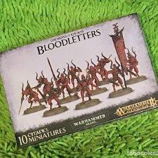 Juegos Antiguos: WARHAMMER 40K AGE OF SIGMAR DEMONS OF KHORNE BLOODLETTERS. Lote 288114653