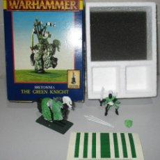 Juegos Antiguos: WARHAMMER FIGURAS METAL, BRETONNIA, THE GREEN KNIGHT. Lote 289363073