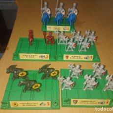 Juegos Antiguos: BATTLE MASTERS MB 1992 LOTE DE FIGURAS CON PEANAS. Lote 293789168