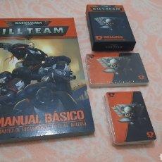 Juegos Antiguos: KILL TEAM MANUAL BÁSICO Y CARTAS WARHAMMER 40K. Lote 295377283
