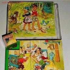 Juegos antiguos: ANTIGUO ROMPECABEZAS DE CUBOS DE CARTON LITOGRAFIADO. Lote 27329287