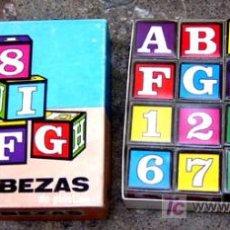 Juegos antiguos: ROMPECABEZAS ABECEDARIO Y NUMEROS DE BORRAS - V I B. Lote 26456148