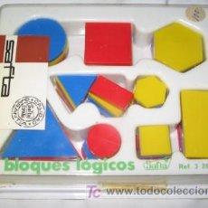 Juegos antiguos: BLOQUES LÓGICOS DE SAFTA. Lote 21205833