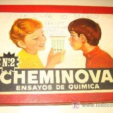 Juegos antiguos: PRECIOSO ANTIGUO JUEGO CHEMINOVA - ESNASYOS DE QUIMICA - FENIX COMERCIAL BARCELONA - MUY BONITA CAJA. Lote 24509953