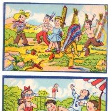 Juegos antiguos: 5 LAMINAS DISTINTAS DE ROMPECABEZAS O PUZLE- ANTIGUAS- V I B. Lote 26456149