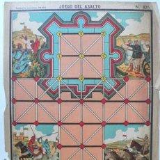 Juegos antiguos: HOJA PARA JUEGO DEL ASALTO - 29X 39 CMS- HOJA SIN CARTON -V I B. Lote 26691386