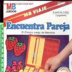 Juegos antiguos: JUEGO VIAJE ENCUENTRA LA PAREJA A ESTRENAR DE LA CASA MB JUEGOS*. Lote 207110740