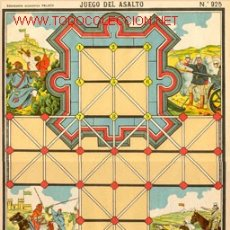 Juegos antiguos: JUEGO DE ASALTO, LÁMINA ANTIGUA. Lote 26224060