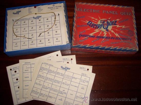 Juegos antiguos: Electriquiz (Años 50) Juego de mesa antiguo - Foto 2 - 25917535