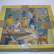 Juegos antiguos: JUEGO DE IMPRESION INFANTIL. Lote 11258865