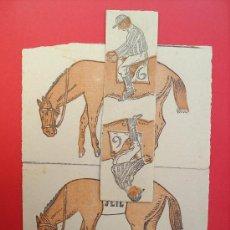 Juegos antiguos: ROMPECABEZAS PROPAGANDA DE FARMACIA-CABALOS Y JINETE- MUY ANTIGUO. Lote 27413886