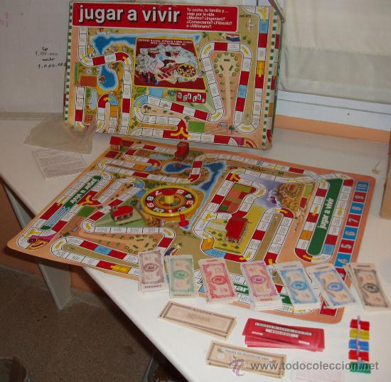 Jugar A Vivir Juego De Mesa Vintage De Scala Comprar Juegos
