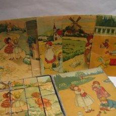 Juegos antiguos: ROMPECABEZAS DE CARTON LITOGRAFIADO, TEMA NIÑOS, 1920. CASTELLON CASA R...? 17 X 21 CM.. Lote 12824296