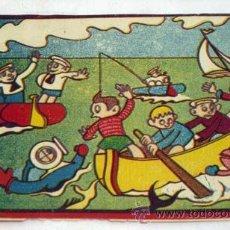 Juegos antiguos: CROMO INFANTIL NIÑOS PARA CAJA JUEGO BARCA BUZOS Y MARINEROS PARTE DE UN JUEGO AÑOS 40. Lote 15343626