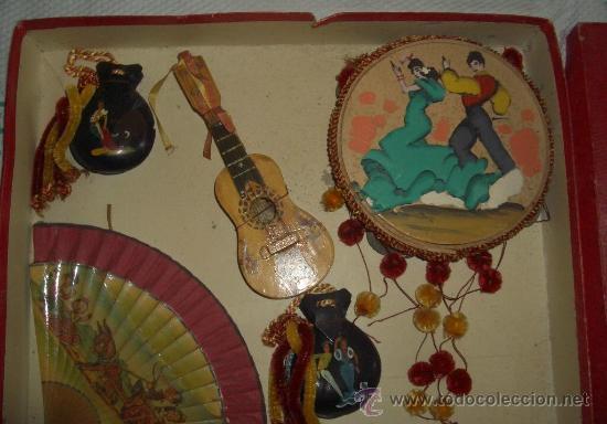 Juegos antiguos: HIJO DE ALFREDO MOMPO(VALENCIA)ACCESORIOS TÍPICOS ESPAÑOLES,AÑOS 50,CAJA ORIGINAL - Foto 3 - 19259818