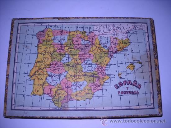 antiguo rompecabezas con los mapas de los 5 con  Comprar Juegos