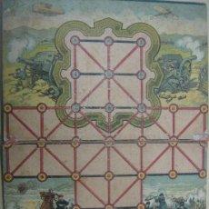 Juegos antiguos: TABLERO DE JUEGO SOLDADOS MUY ANTIGUO EN CARTON 36X26 CENTIMETROS NO SE QUE JUEGO ES VER FOTOS. Lote 22715206