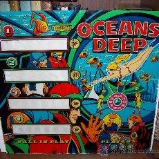 Juegos antiguos: PINBALL : COLECCIÓN DE CRISTALES SERIGRAFIADOS : OCEANS DEEP (FAMARESA). Lote 31146593