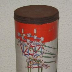 Juegos antiguos: JUEGO DE CONSTRUCCIÓN TINKERTOY Nº 146, DE MADERA. Lote 26168495