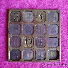 Juegos antiguos: JUEGO DE LOS 15 NÚMEROS, FINALES DEL XIX. Lote 26359396
