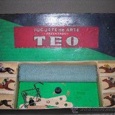 Juegos antiguos: (M) CARRERAS DE CABALLOS - CARRERAS TEO MECANICAS , CABALOS DE PLOMO, AÑOS 20. Lote 26886964