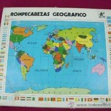 Juegos antiguos: ROMPECABEZAS GEOGRÁFICO DE LOS AÑOS 70-80 BORRAS 32 X 28 CMS, COMPLETO. Lote 28206228